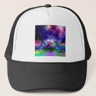 Boné As cores e as estrelas iluminam acima a noite