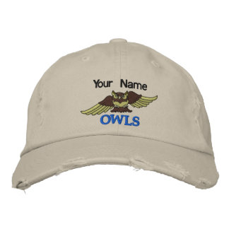 Boné as CORUJAS de 1 AMOSTRA bordaram o chapéu do