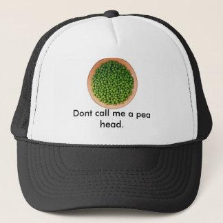 Boné as ervilhas, não me chamam uma cabeça da ervilha