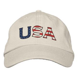 Boné As estrelas & as listras dos EUA bordaram o chapéu