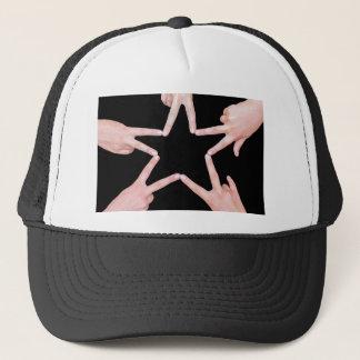 Boné As mãos das meninas que fazem a estrela dão forma