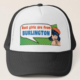 Boné As melhores meninas são de Burlington