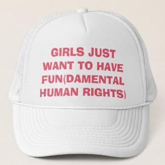 Boné As meninas feministas apenas querem ter direitos