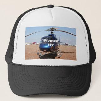 Boné As mulheres voam: helicóptero azul