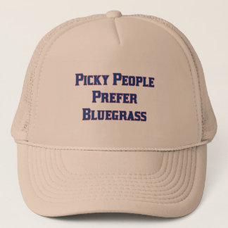 Boné As pessoas seletivos preferem o Bluegrass