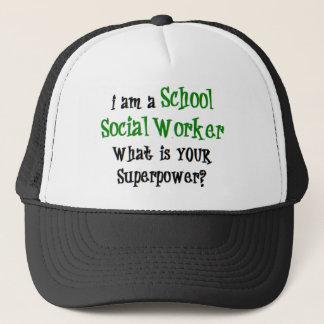 Boné assistente social da escola