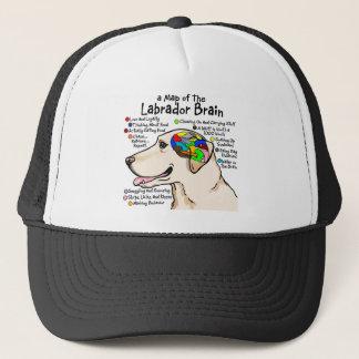 Boné Atlas amarelo do cérebro de Labrador