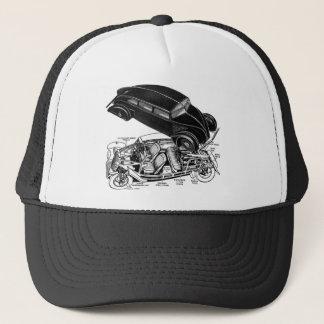 Boné Automóvel futurista do Traseiro-Motor retro dos
