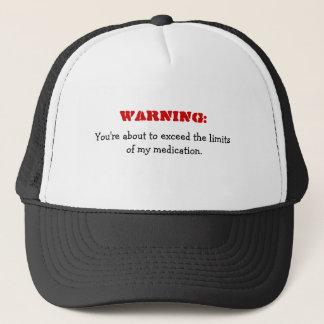 Boné Aviso: Excedendo meu chapéu engraçado da