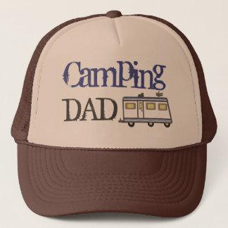 Boné Azul de acampamento do chapéu do camionista do pai
