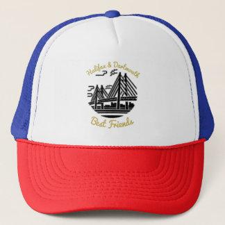 Boné Azul vermelho do chapéu dos melhores amigos de