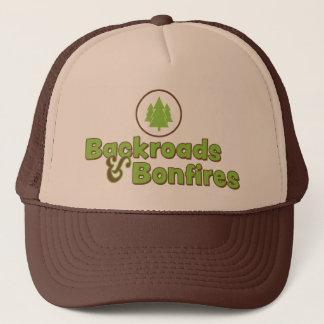 Boné Backroads & chapéu do camionista das fogueiras