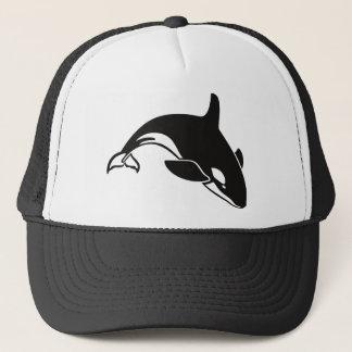 Boné Baleia de assassino preto e branco da orca