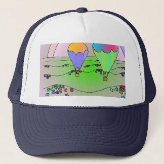 Boné Balões de ar quente do arco-íris
