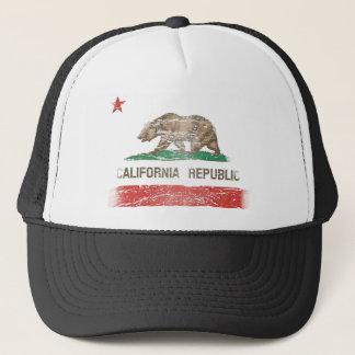 Boné Bandeira afligida da república de Califórnia