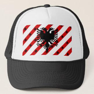 Boné Bandeira albanesa das listras