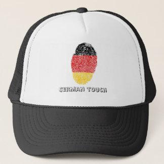Boné Bandeira alemão da impressão digital do toque