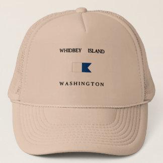 Boné Bandeira alfa do mergulho de Washington da ilha de