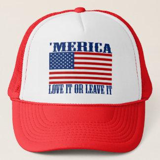 Boné 'Bandeira americana de MERICA - ame-a ou deixe-lhe