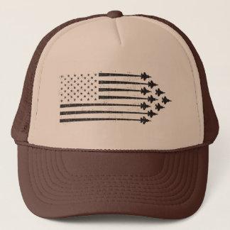 Boné Bandeira americana dos Contrails do avião de