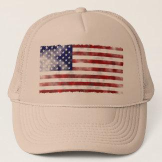 Boné Bandeira americana esfarrapada do vintage