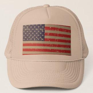 Boné Bandeira americana resistida, afligida dos EUA