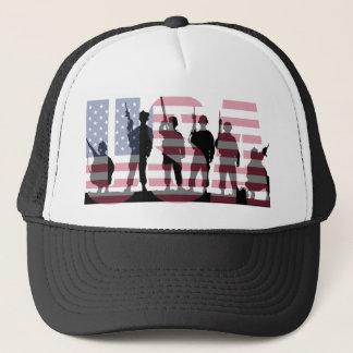 Boné Bandeira americana simples e colorida dos E.U. com