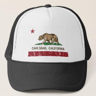 Boné bandeira carlsbad de Califórnia afligido