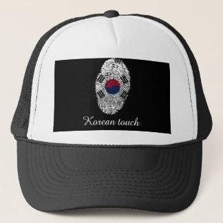 Boné Bandeira coreana da impressão digital do toque