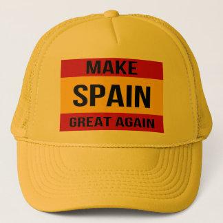 Boné Bandeira da espanha - faça o excelente da espanha