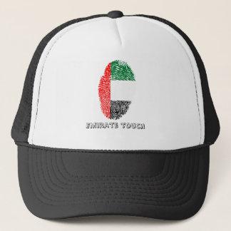 Boné Bandeira da impressão digital do toque do emirado