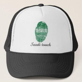 Boné Bandeira da impressão digital do toque do saudita