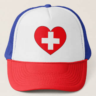 Boné Bandeira da suiça simples