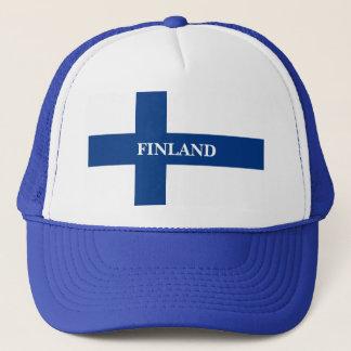 Boné Bandeira de Finlandia Suomi transversal azul