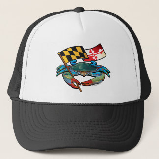Boné Bandeira de Maryland do caranguejo azul