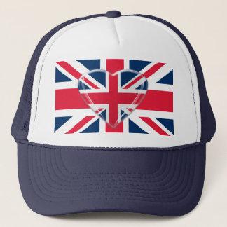 Boné Bandeira de Union Jack com design do coração