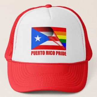 Boné Bandeira do arco-íris do orgulho LGBT de Puerto