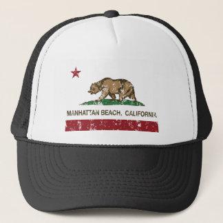 Boné Bandeira do estado de Manhattan Beach Califórnia