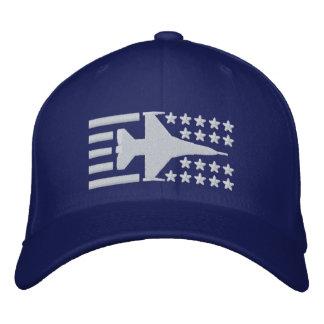Boné Bandeira dos Estados Unidos do jato do caça F-16