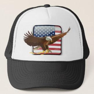 Boné Bandeira dos EUA da águia americana