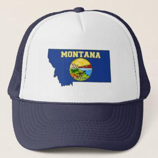 Boné Bandeira e mapa do estado de Montana