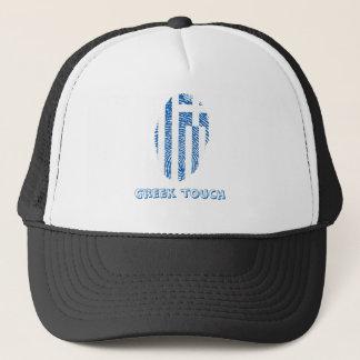 Boné Bandeira grega da impressão digital do toque