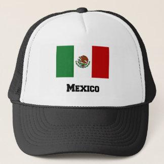 Boné Bandeira mexicana e texto
