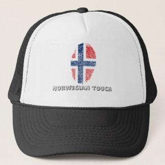 Boné Bandeira norueguesa da impressão digital do toque