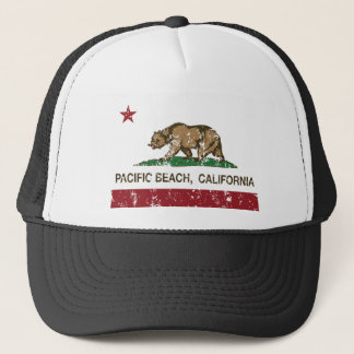 Boné bandeira pacífica do estado de Califórnia da praia