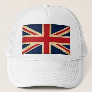 Boné Bandeira velha Union Jack de Reino Unido do Grunge