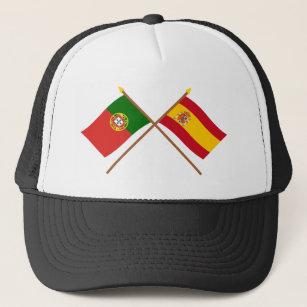 Boné Bandeiras cruzadas de Portugal e da espanha 9a19a72624f