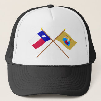 Boné Bandeiras cruzadas de Texas e de San Jacinto