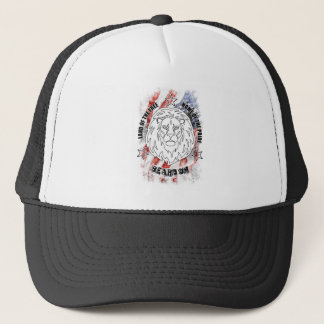 Boné Barba no chapéu patriótico
