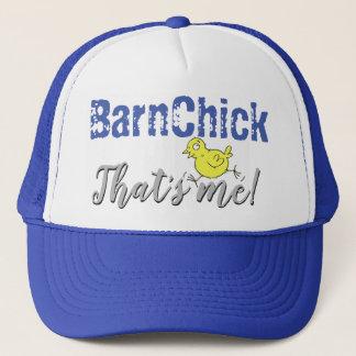 Boné BarnChick que é mim! Chapéu do camionista - azul